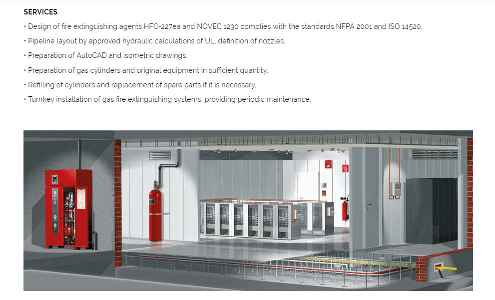 akronex fire suppresssion system